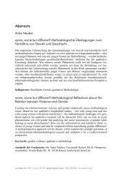 Abstracts - sozialer sinn. Zeitschrift für hermeneutische ...