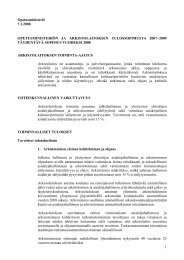 1 Opetusministeriö 7.1.2008 OPETUSMINISTERIÖN JA ...