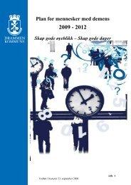 Plan for mennesker med demens 2008-2012 - Drammen kommune