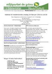 Kallelse till medlemsmöte onsdag 24 februari 2010 kl.18:00