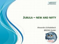 JUBULA – NEW AND NIFTY - EclipseCon