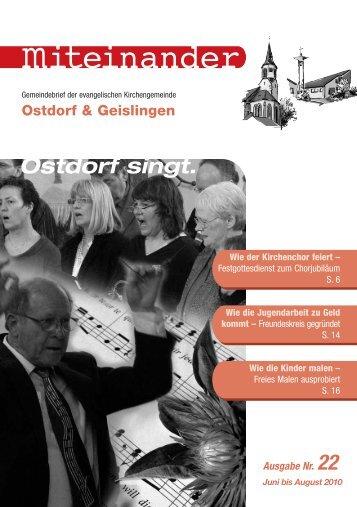Ostdorf singt. - Evangelische Kirchengemeinde Ostdorf-Geislingen