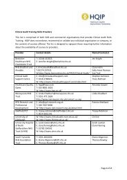 Page 1 of 2 Clinical Audit Training Skills Providers This list is ... - HQIP