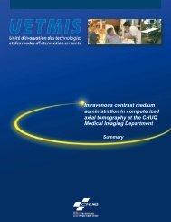 Intravenous contrast medium administration in ... - CHUQ