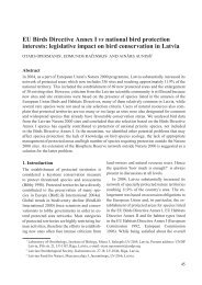 EU Birds Directive Annex I vs national bird protection interests ...