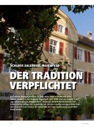 SCHLOSS SALENEGG, MAIENFELD - hoteljournal.ch