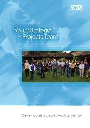 Your Strategic Projects Team - NHS Strategic Projects Team