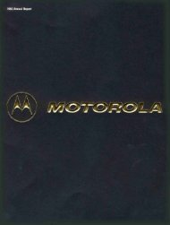 About The Company - Motorola Solutions