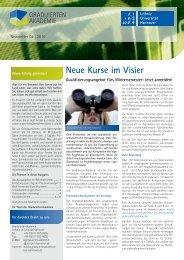 Newsletter 04/2010 - Graduiertenakademie - Leibniz Universität ...