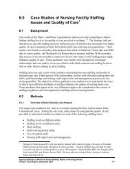 6.0 Case Studies of Nursing Facility Staffing Issues and Quality ... - PHI