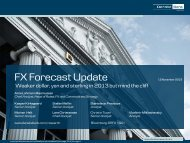FX Forecast Update November - Danske Analyse - Danske Bank