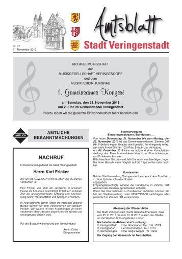 Amtsblatt KW 47 - Veringenstadt