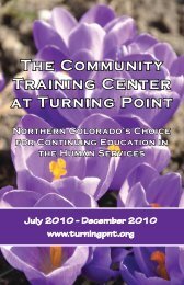 The Community Training Center at Turning Point