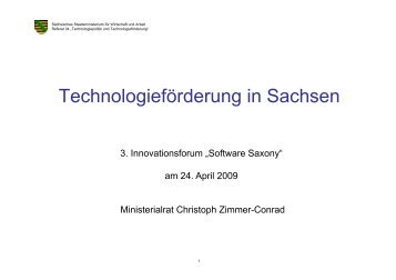 Technologieförderung in Sachsen