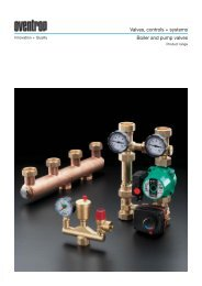 Valves, controls + systems Boiler and pump valves