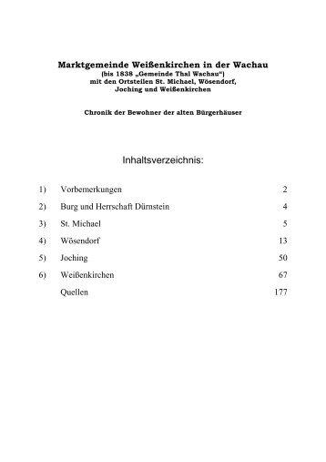 Haeuserchronik Teil 1 - Weißenkirchen in der Wachau