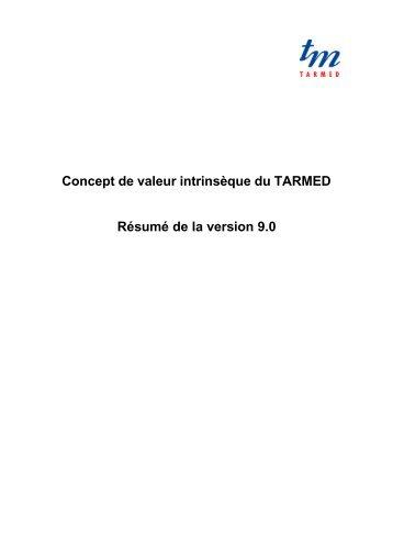 Concept de valeur intrinsèque TARMED