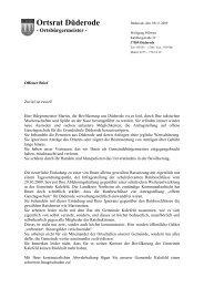 Ortsrat Düderode - HNA