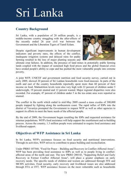 Sri Lanka - WFP Remote Access Secure Services