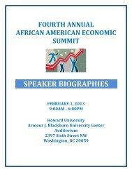 Speaker bios - COAS - Howard University