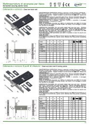 Elettroserrature di sicurezza per fasce - Rora Distribuzioni