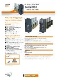 Evolis 24 kV Lateral version datasheet - Schneider Electric