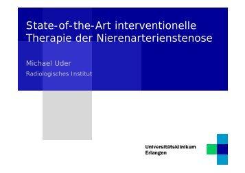 State-of-the-Art interventionelle Therapie der Nierenarterienstenose