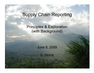 Supply Chain Reporting - The Sustainability Consortium