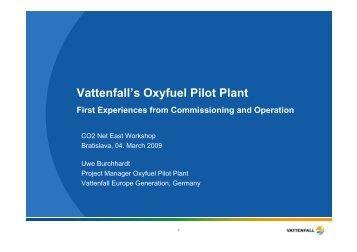 Vattenfall's Oxyfuel Pilot Plant