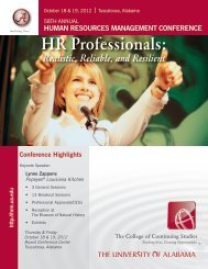 HRM - Professional Development & Training - The University of ...