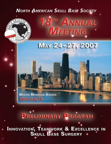 Annual Meeting Preliminary Program - NASBS