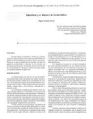 Gasolinas y su impacto en la atmósfera - Publicaciones ...