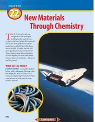 Chapter 22: New Materials Through Chemistry - Wylie Jr. High School