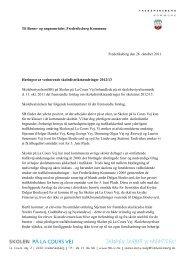 Høringssvar skoledistriktsændringer 2011 - Skolen på la Cours Vej