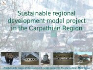 Sustainable regional development model project in the Carpathian ...