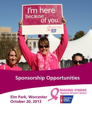 Sponsorship Opportunities - Making Strides Against Breast Cancer