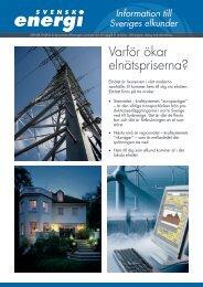 Information om elnätspriserna.