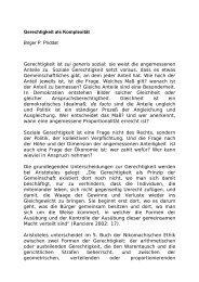 Gerechtigkeit als Komplexität Birger P. Priddat Gerechtigkeit ist sui ...