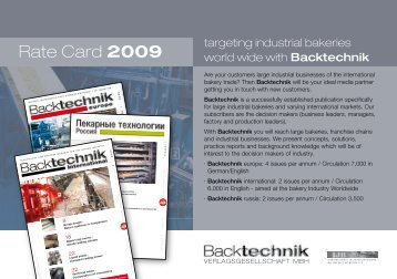 Rate Card 2009 - Backtechnik