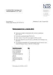 Delårsrapport for 1. halvår 2011 - NTR Holding A/S