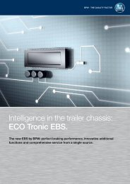 Intelligence in the trailer chassis: ECO Tronic EBS.
