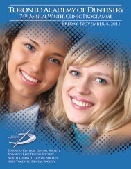 Winter Clinic Programme - Toronto Academy of Dentistry