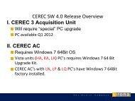 CEREC SW 4.0 Upgrade Kit - Sirona Support