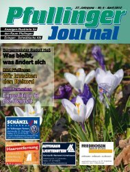 Ausgabe April 2012 - beim Pfullinger Journal