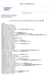 ABC-Listen zum Familienbuch Erpel St. Severin 1615-1875 - WGfF