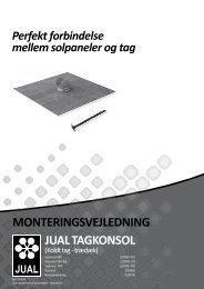 Monteringsvejledning jUAl tAgkonsol - f.metal-supply.dk
