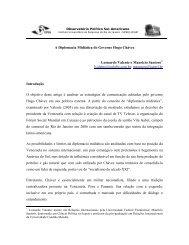 A Diplomacia Midiática do Governo Hugo Chávez - Plataforma ...