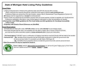Current State Approved Hotel List