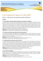 Full Programme Topics for 20th WPC - the 20th World Petroleum ...