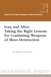 Taking the Right Lessons for Combating Weapons of ... - Iraq Watch